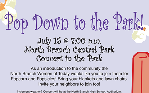 Popcorn in the Park Flyer