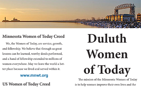 Duluth Women of Today Brochure
