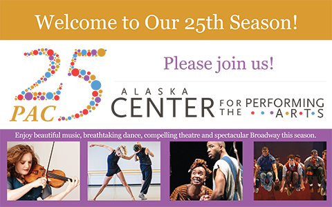 25th Anniversary Alaska Center for the Performing Arts Exterior Banner